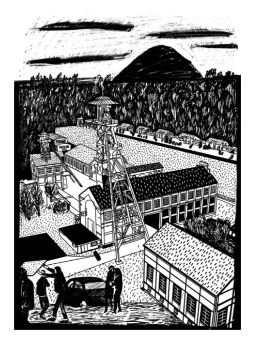 Sérigraphie de Wallers Arenberg